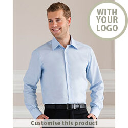 Men's Long Sleeve Easy Care Tailored Oxford Shirt 192063 - Customise with your brand, logo or promo text