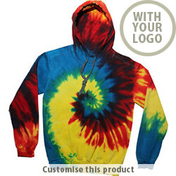 TDUK Tie Dye Hooded Sweatshirt 192406 - Customise with your brand, logo or promo text