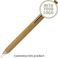 WOODEN BALL PEN 19248 - Customise with your brand, logo or promo text
