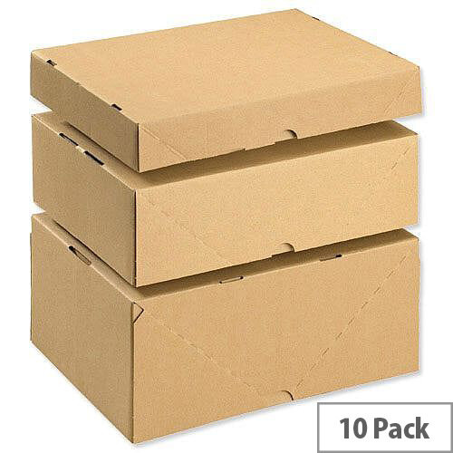 Mailing Cartons With Lid A4 305x215x100mm Brown Pack of 10