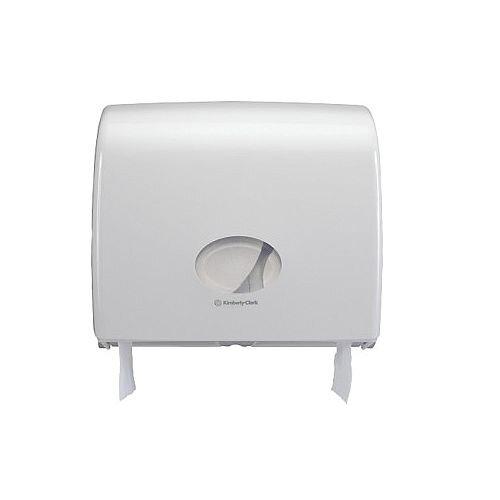 Kimberly Clark Aquarius Jumbo Plastic Dispenser Toilet Paper Roll Dispenser White 6987