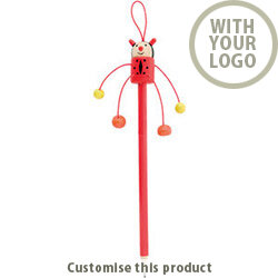 Farm Wooden Pencil Ladybird 199893 - Customise with your brand, logo or promo text