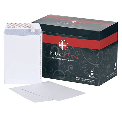Plus Fabric C5 Envelope Peel and Seal 110gsm White (Pack of 250) D10055