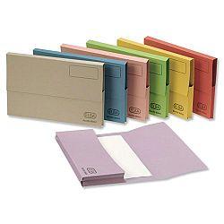 A4 Document Wallet Half Flap Blue Pack 50 Elba
