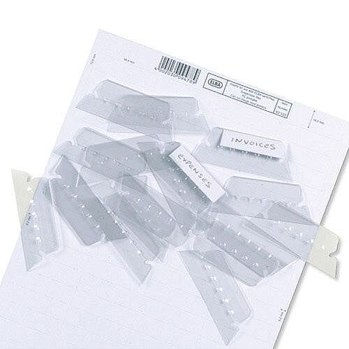 Plastic Tabs for Elba Ultimate Vertic Flex Suspension Files L140030 Pack 25