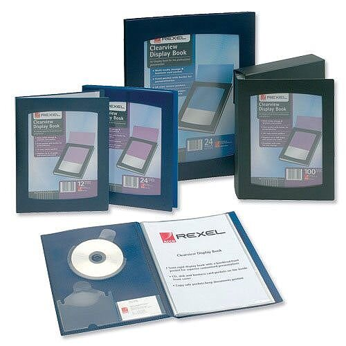 Rexel Clearview 12 Pockets Display Book A4 Black 10300BK