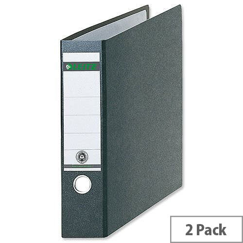 Leitz 180 A3 Oblong Black 77mm Lever Arch File Pack of 2