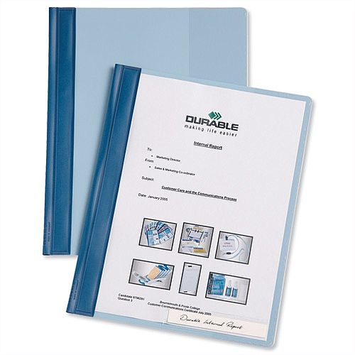 Durable Flat File Plastic A4 Blue