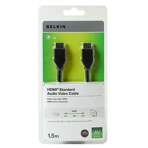 Belkin High-Speed Cable Standard HDMI Male to Standard HDMI Male 1.5m Black