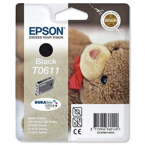 Epson T0611 Black Ink Cartridge Teddybear Series C13T06114010