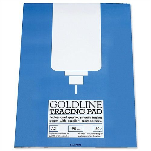 Goldline Professional A2 Tracing Pad 50 Sheets GPT1A2Z