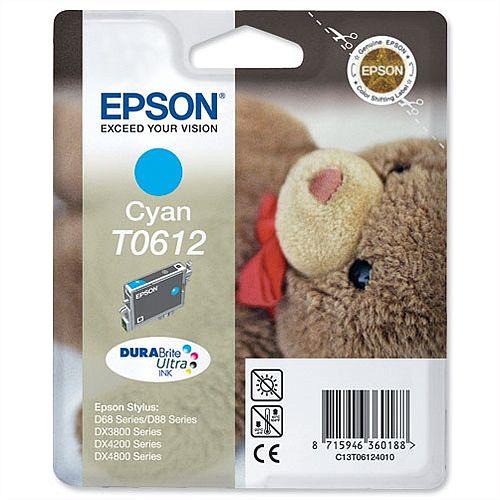Epson (T0612) Cyan Original Ink Cartridge C13T06124010 222136