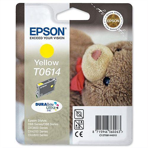 Epson (T0614) Yellow Ink Cartridge (C13T06144010)
