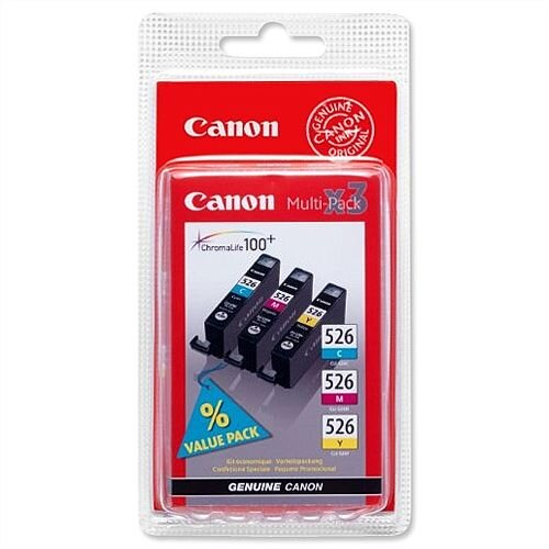 Canon CLI-526 C/M/Y 3 Colours Inkjet Cartridges Multi-Pack 4541B009