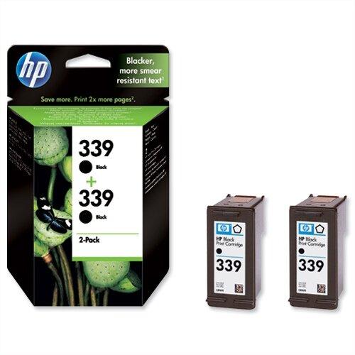 HP 339 Twin Pack Black Inkjet Cartridge C9504EE