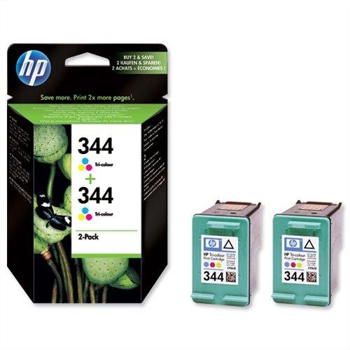 HP 344 Colour Inkjet Cartridge Twin Pack C9505EE