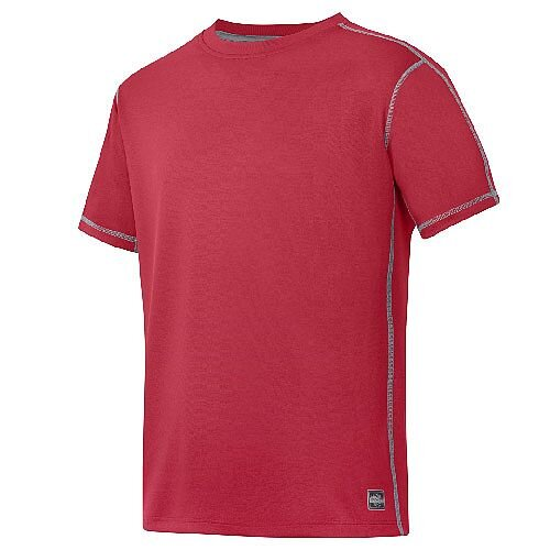 Snickers 2508 A.V.S. T-shirt Size S Chili Red