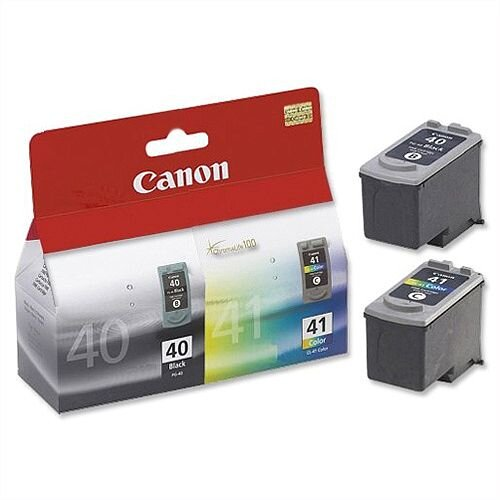 Canon PG-40 &CL-41 Colour &Black Inkjet Cartridges Pack 2