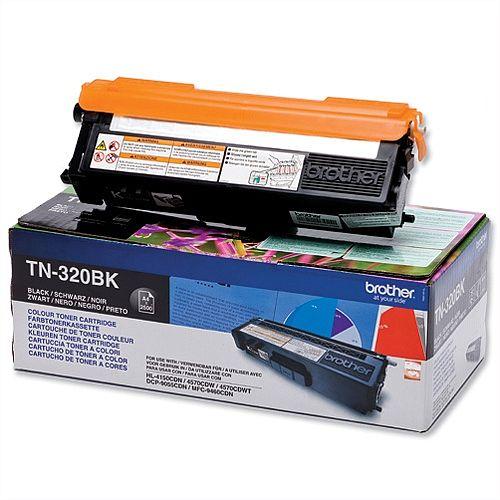 Brother TN-320BK Black Laser Toner Cartridge TN320BK