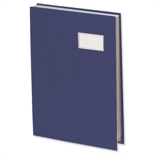 Visitors Signature Book Blue 20 Compartments Durable Blotting Card 340 x 240mm