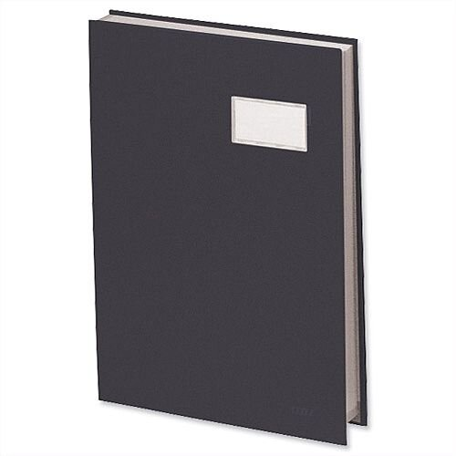 Visitors Signature Book Black 20 Compartments Durable Blotting Card 340 x 240mm