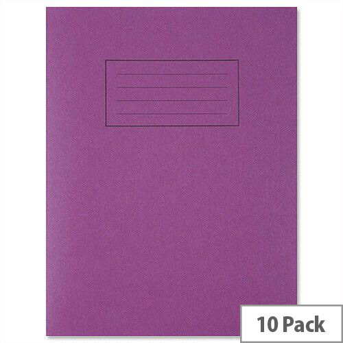 Silvine Exercise Book Ruled and Margin 80 Pages 229x178mm Purple Ref EX100 [Pack 10]