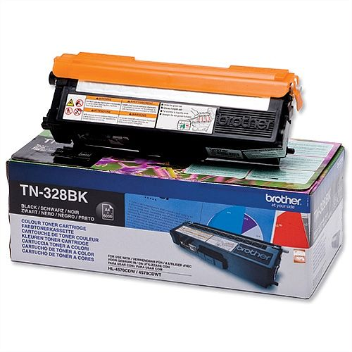 Brother TN328BK Black Super High Yield Laser Toner Cartridge