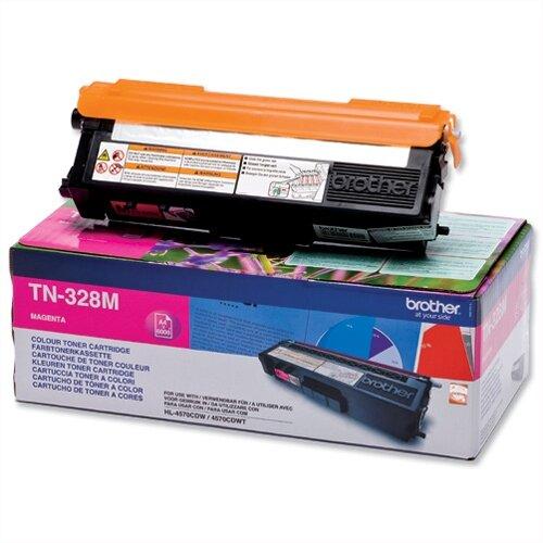 Brother TN328M Magenta Super High Yield Laser Toner Cartridge