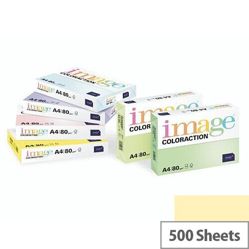 Image Coloraction Desert Pale Yellow A3 Paper 80gsm Pack of 500