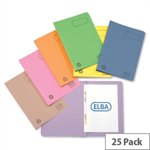Flat File 35mm Foolscap Blue Pack 25 Elba Ashley
