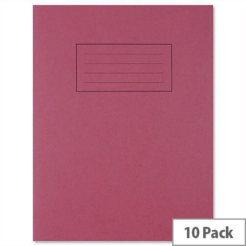 Silvine Exercise Book Ruled and Margin 80 Pages 229x178mm Red Ref EX101 [Pack 10]