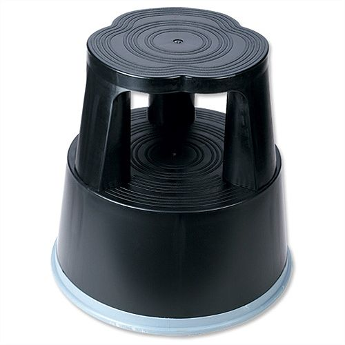 5 Star Step Stool Mobile Plastic Lightweight Strong Black