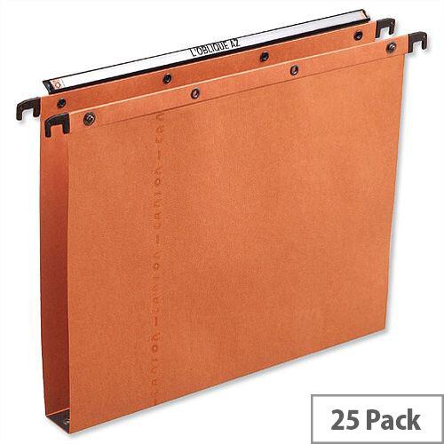 Elba Ultimate AZ0 Vertical Foolscap Suspension File 30mm Orange L206002 Pack 25