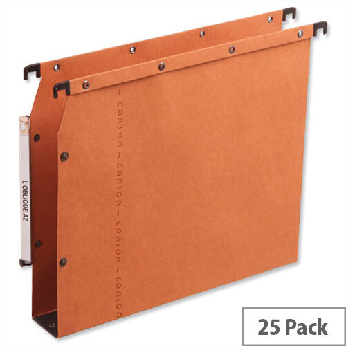 Elba Ultimate AZV Lateral File 330mm Wide Base 30mm Orange Ref L500002 [Pack 25]