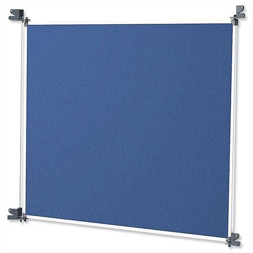 Nobo Free Standing Modular Display System Small Panel with Brackets Blue Grey 1902220