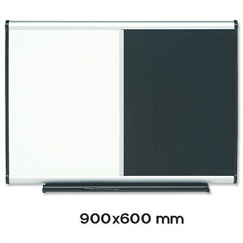 Nobo Prestige Combination Magnetic Whiteboard and Foamboard Black 900 x 600mm
