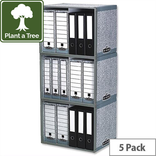 Fellowes Bankers Box System Archive Stax File Store Pack 5