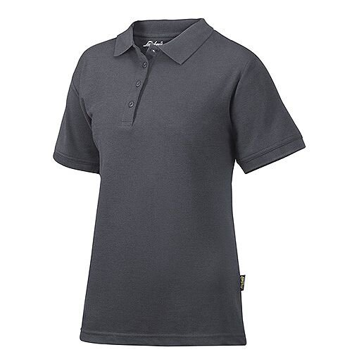 Snickers 2702 Women's Polo Shirt Size L Steel Grey