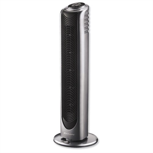 Tower Fan Static Remote Control 3-Speed 8hr Timer Black