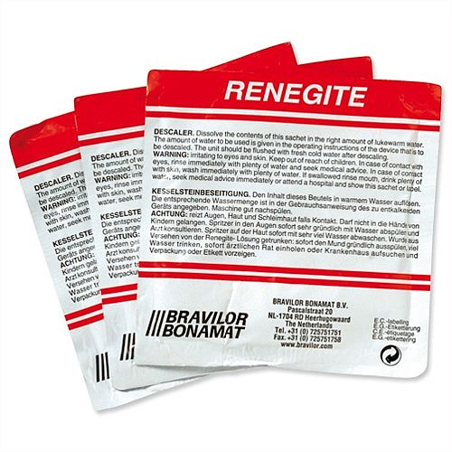 Bravilor Bonamat Renegite Kettle Descaler Sachets Pack 15