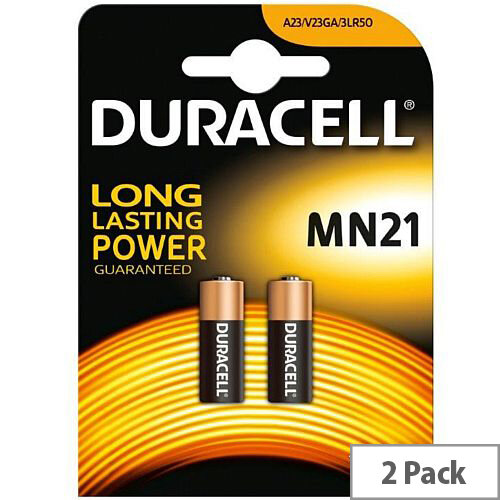 Duracell MN21 Battery Alkaline for Camera Calculator or Pager 12V (Pack of 2)