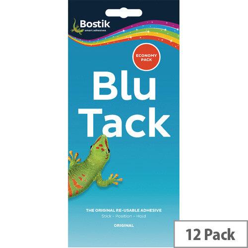 Blu Tack Adhesive Economy Pack Pack 12 Bostik