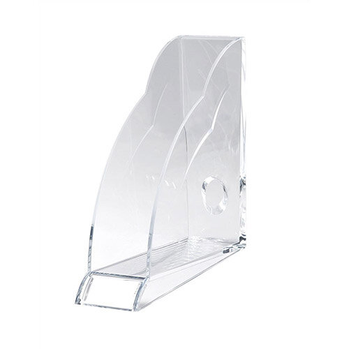 Magazine Rack Robust Clear Acrylic Front Indexing Tab Rexel Nimbus