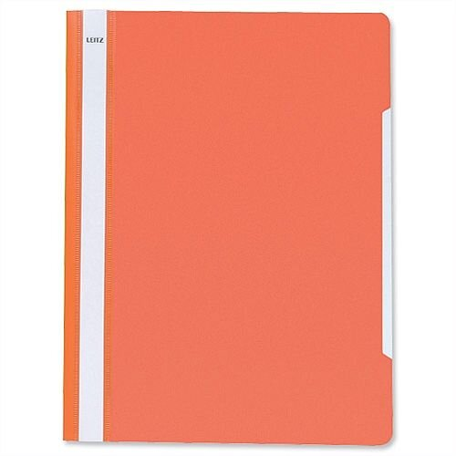 Report Files A4 Orange PVC Clear Front Pack 25 Leitz