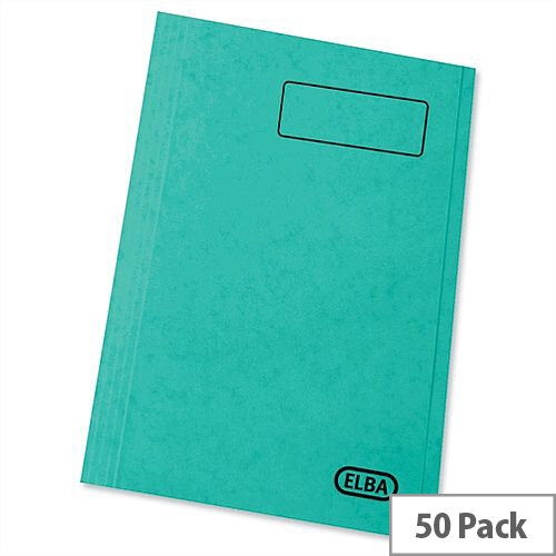 Elba StrongLine Square Cut Folder 320gsm 32mm Foolscap Green Pack 50 Ref 100090022