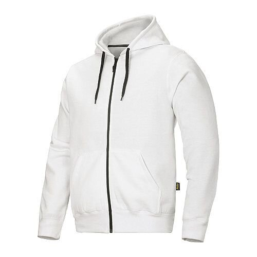 Snickers Classic Zip Hoodie White Regular WW4
