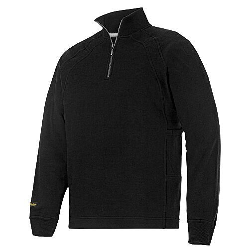 Snickers 1/2 Zip Sweatshirt Black Size M Regular WW4