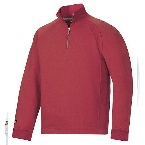 Snickers 1/2 Zip Sweatshirt Chili Size XXXL Regular WW4