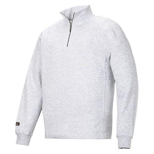 Snickers 1/2 Zip Sweatshirt Grey Size L Regular WW4