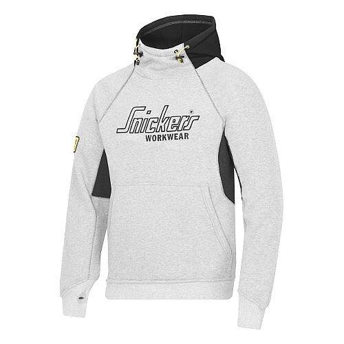 Snickers Logo Hoodie Grey &Black Size L WW4